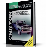 CHRYSLER FULL-SIZE TRUCK DODGE PICK-UPS (1967-1988) CHILTON
