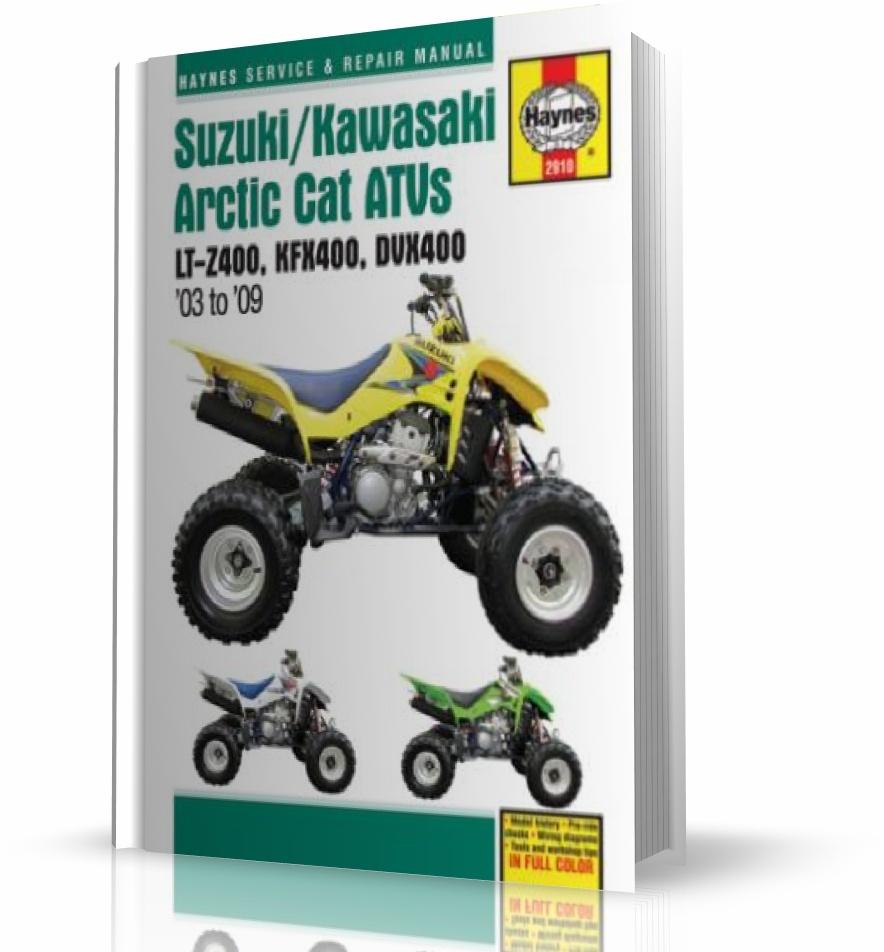 SUZUKI LT-Z400, KAWASAKI KFX400, ARCTIC CAT DVX400 ATV (2003-2009) -  instrukcja napraw Haynes :: Księgarnia Internetowa Bookcase